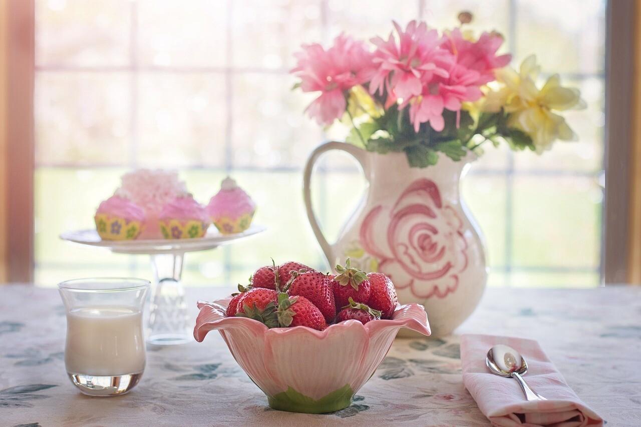 果実と牛乳による補食