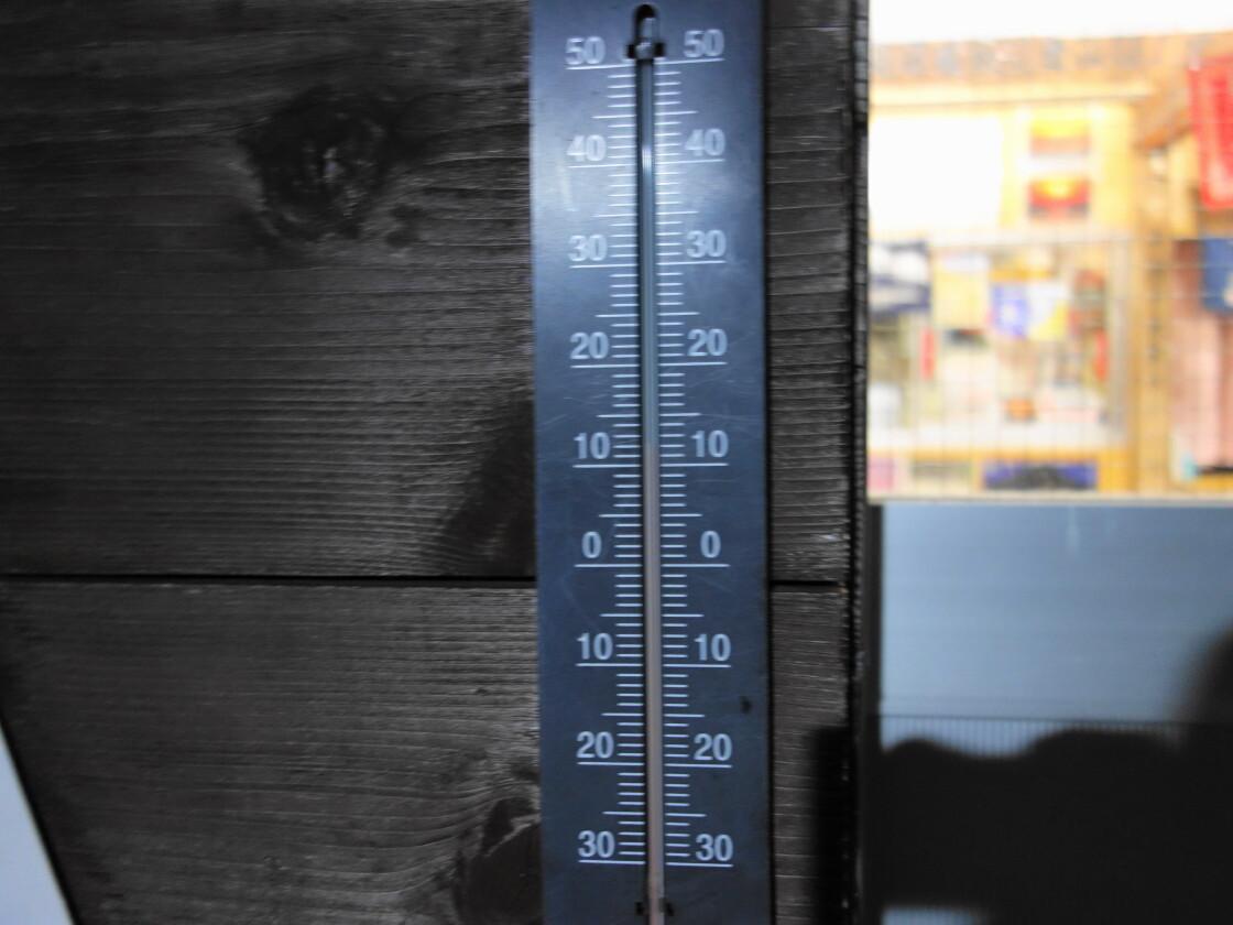 トモエ館の温度計