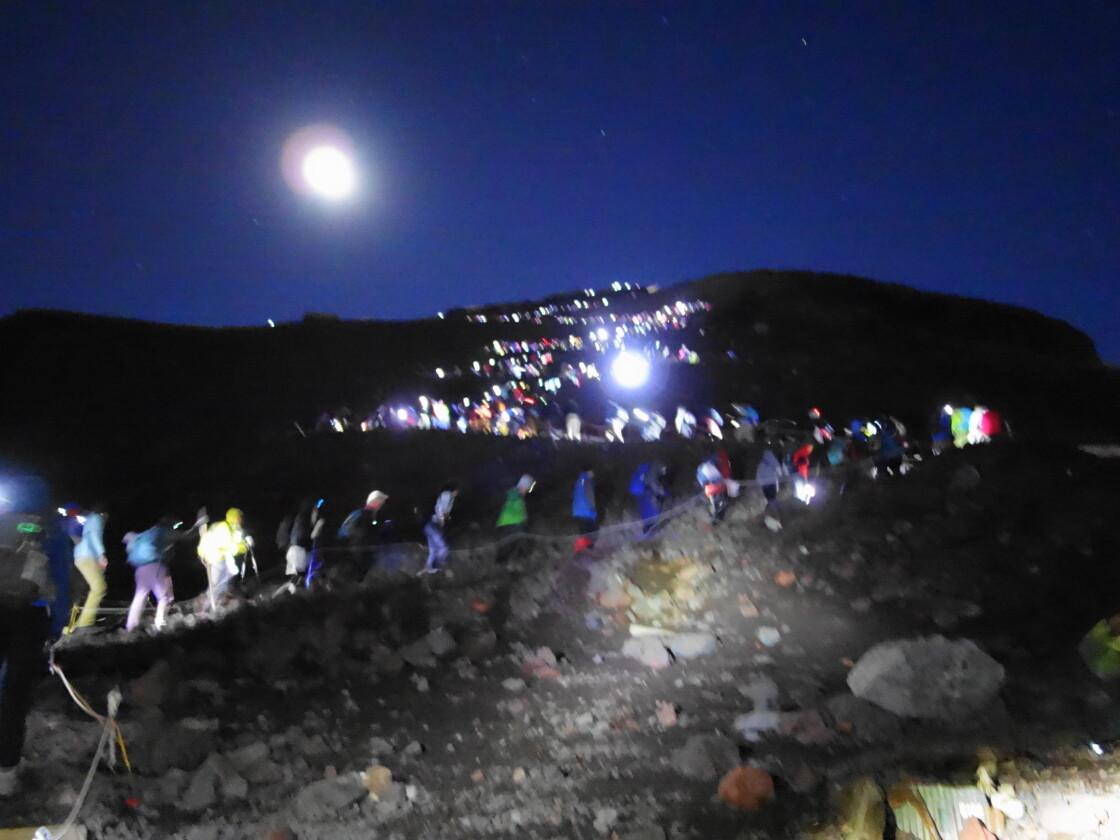 吉田ルート登頂までの山道
