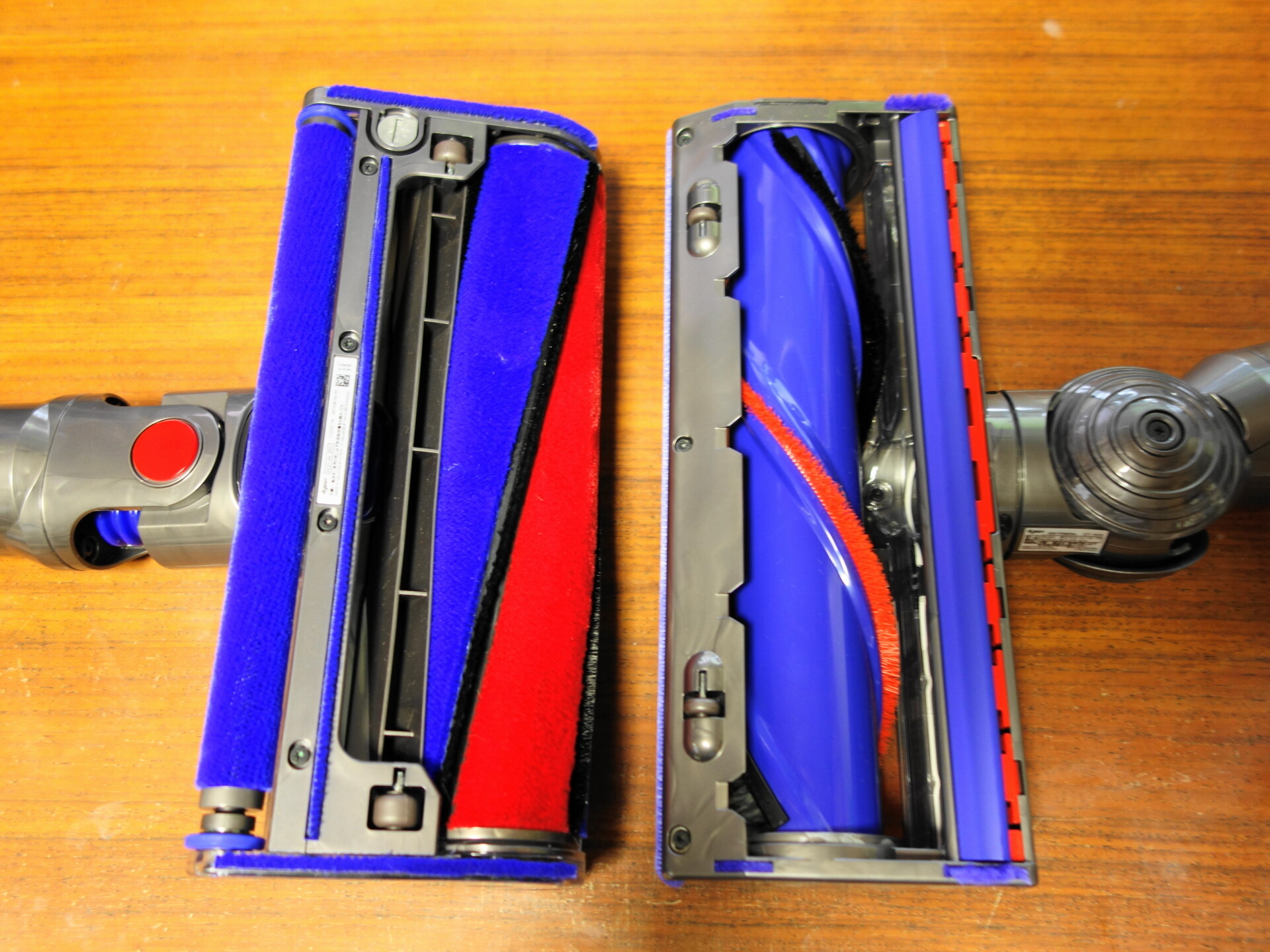 ダイレクトドライブクリーナーヘッドとソフトローラークリーナーヘッド